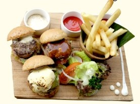 Triple Mini Wagyu Beef Burger