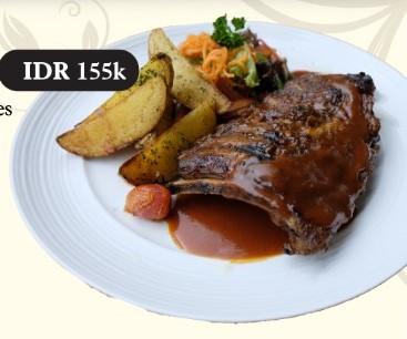 BBQ Pork Spareribs Herbs Crust